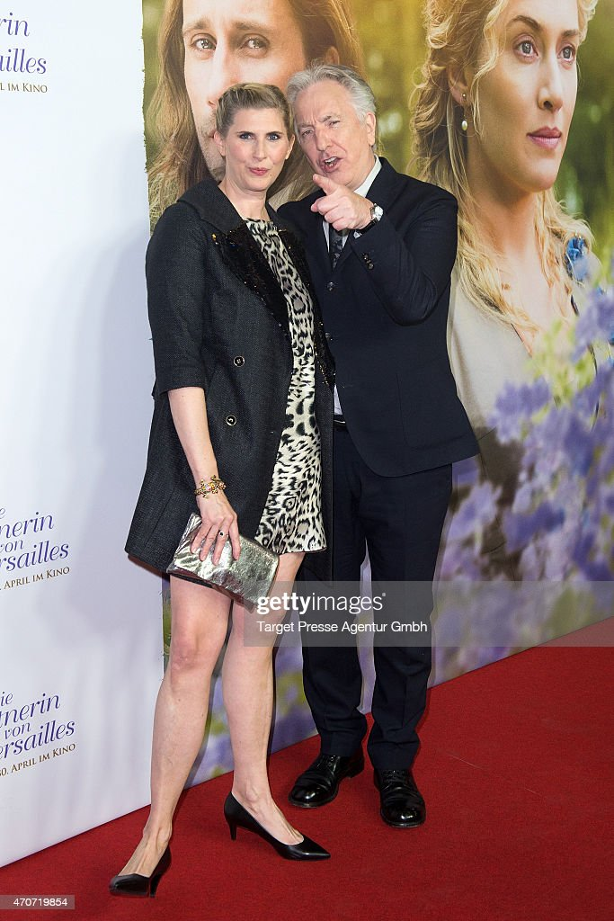 Paula Paul and Alan Rickman attend the German premiere for the film 'A Little Chaos' at Kino in der Kulturbrauerei on April 22 2015 in Berlin Germany