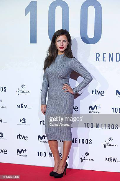 Paula Prendes attends '100 Metros' premiere at Capitol cinema on November 2 2016 in Madrid Spain