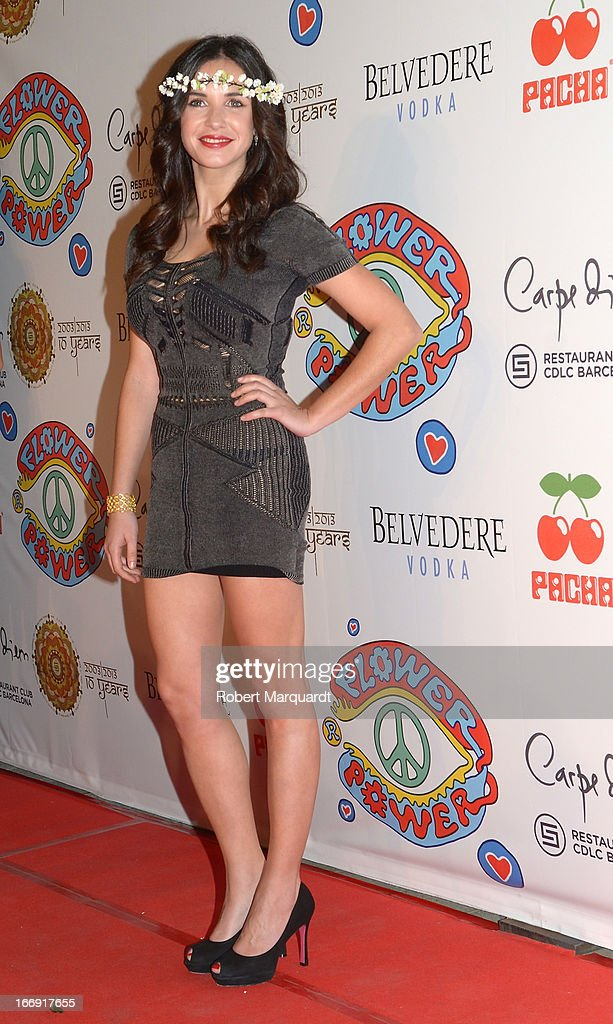 Paula Prendes attends the Flower Power Pacha Party 2013 at the Carpe Diem club on April 18, 2013 in Barcelona, Spain.