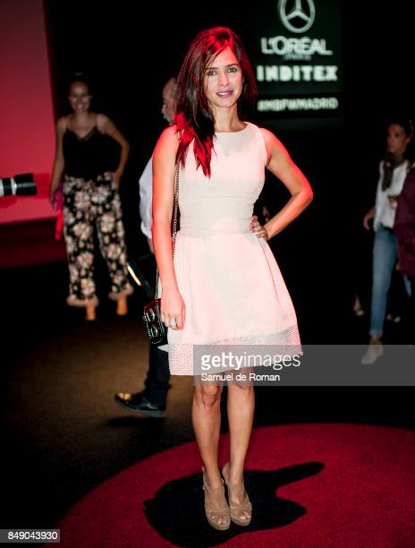 Paula Prendes is seen at Hannibal Laguna front row during MercedesBenz Fashion Week Madrid Spring/Summer 2018 on September 18 2017 in Madrid Spain