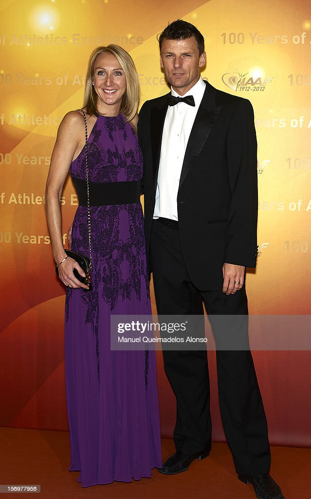 <a gi-track='captionPersonalityLinkClicked' href=/galleries/search?phrase=Paula+Radcliffe&family=editorial&specificpeople=202257 ng-click='$event.stopPropagation()'>Paula Radcliffe</a> and her husband Gary Lough attend the IAAF Centenary Gala at the Museo Nacional d'Art de Catalunya on November 24, 2012 in Barcelona, Spain.
