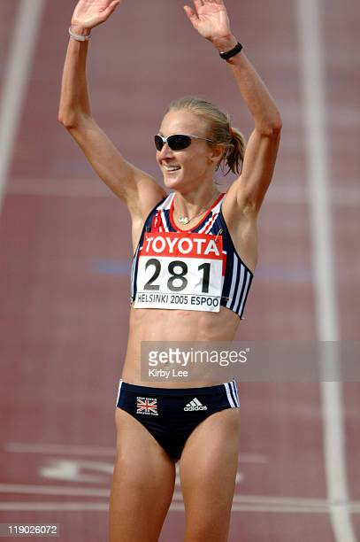 Paula Radcliffe of Great Britain won the women's marathon in 22057 in the IAAF World Championships in Athletics at Olympic Stadium in Helsinki...