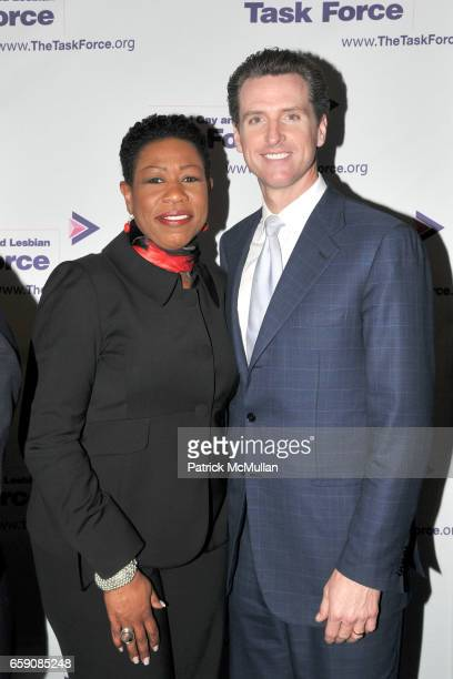 Paula Redd Zeman and Mayor Gavin Newsom attend NATIONAL GAY and LESBIAN TASK FORCE 2009 New York Leadership Awards to Honor MAYOR GAVIN NEWSOM and...
