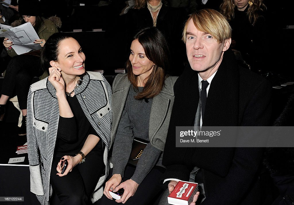 Paula Reed, guest and Ken Downing attend the Anya Hindmarch Autumn/Winter 2013 presentation during London Fashion Week at P3 on February 19, 2013 in London, England.