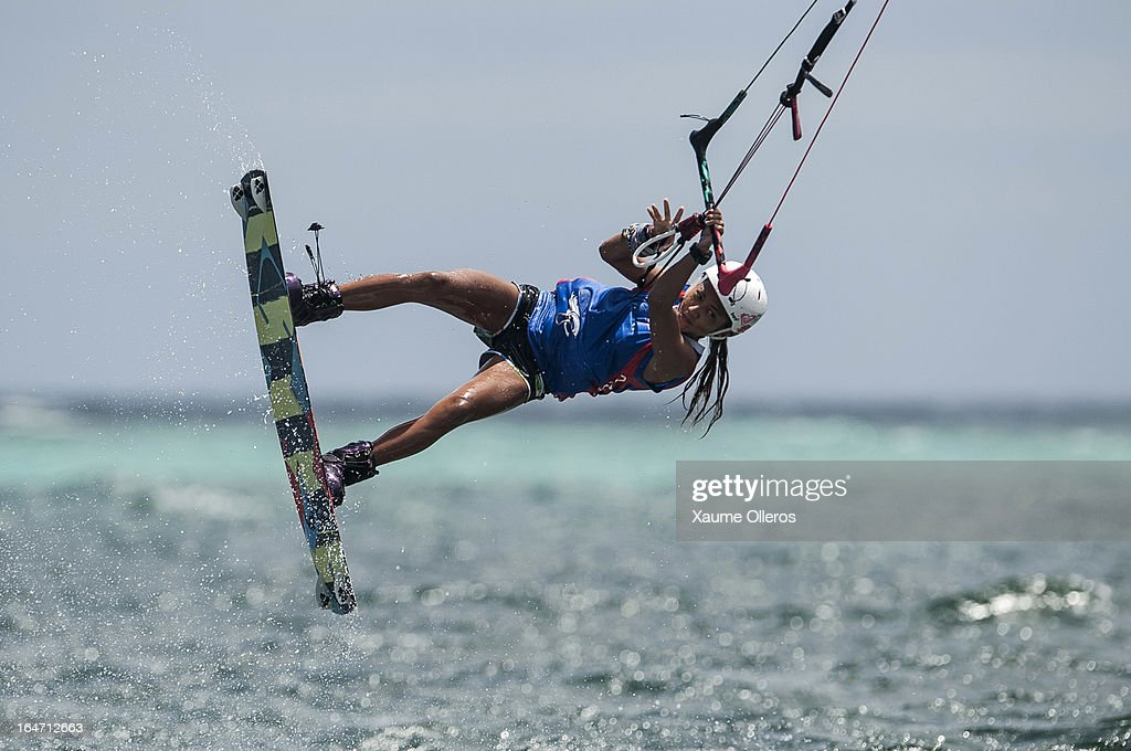 Paula Rosales of Philippines competes in freestyle during day two of the KTA at Boracay Island on March 27, 2013 in Makati, Philippines.