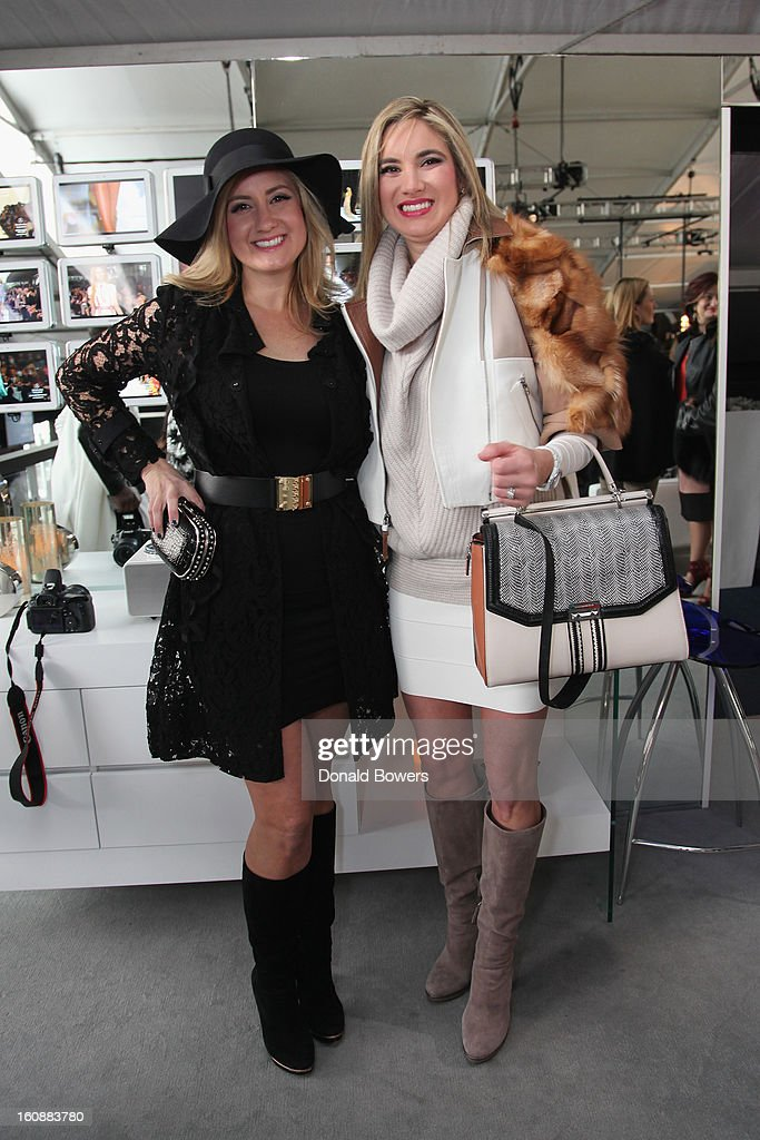 Paula Smathers and Pam Fife attend the VIP reception ForBCBGMAXAZRIA hosted by Samsung Galaxy Lounge during Mercedes-Benz Fashion Week Fall 2013 Collections at Lincoln Center on February 7, 2013 in New York City.