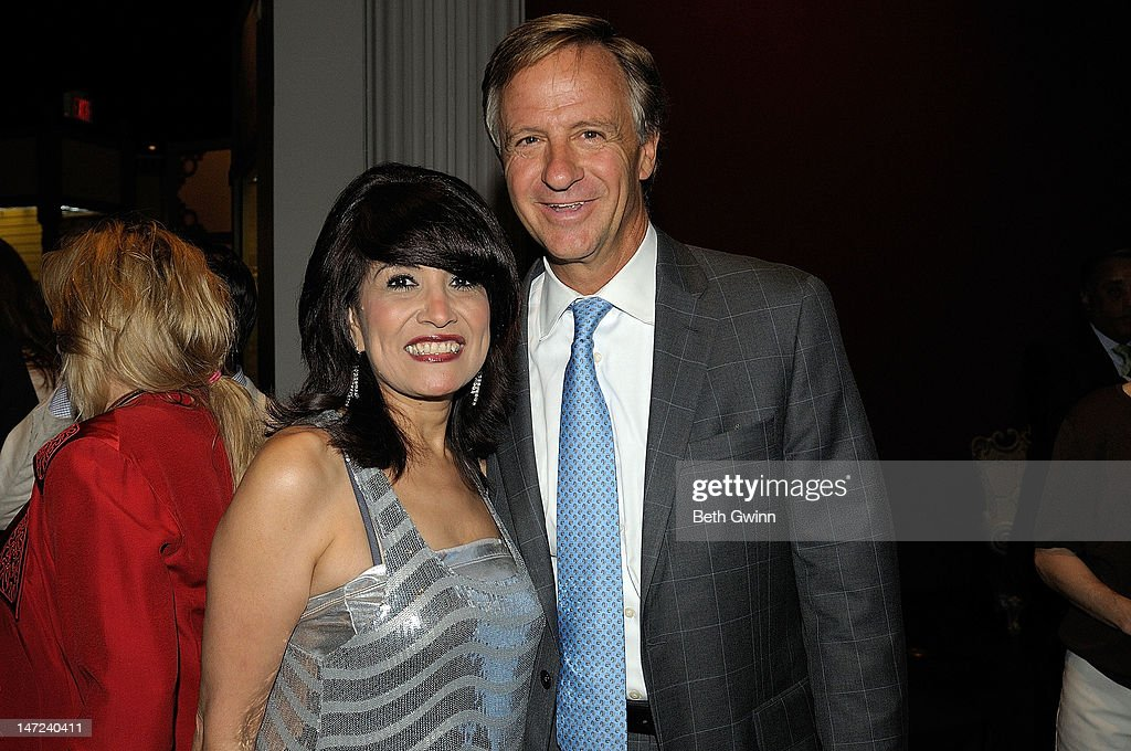Paula Smith and Govenor Bill Haslam attend the 'Smokey Mountain Spring' special presentation & VIP reception at the Tennessee State Museum on June 27, 2012 in Nashville, Tennessee.