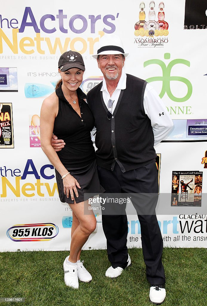 Paula Trickey and Gregory Itzin attend 8th annual Hack N' Smack celebrity golf tournament at El Caballero Country Club on April 18 2011 in Tarzana...