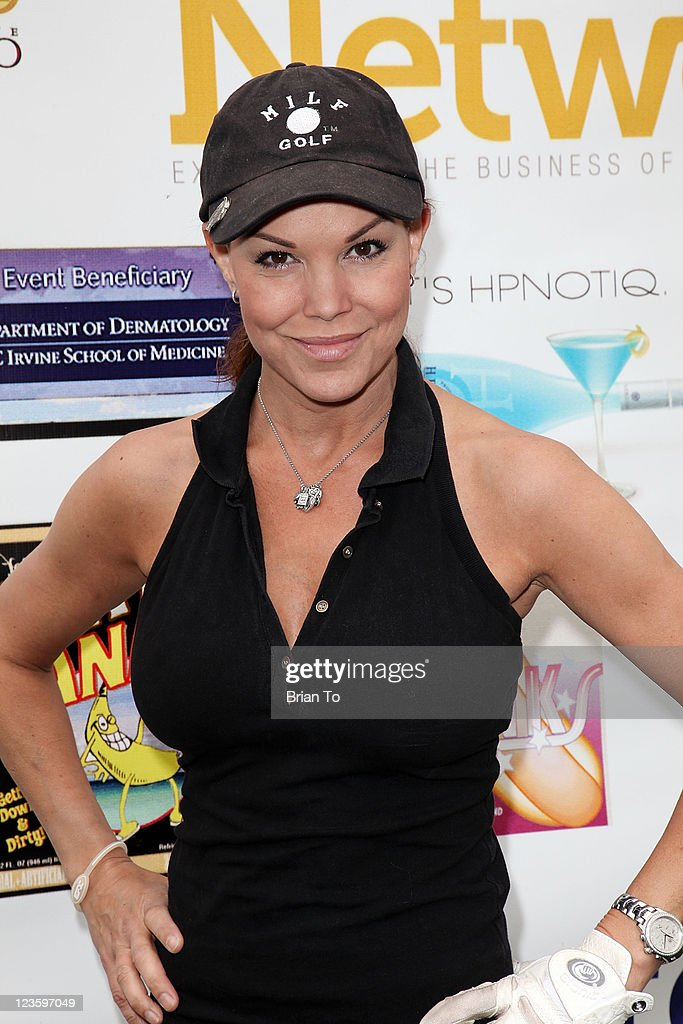 Paula Trickey attends 8th annual Hack N' Smack celebrity golf tournament at El Caballero Country Club on April 18 2011 in Tarzana California