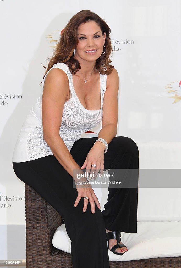 Paula Trickey attends photocall at the Grimaldi Forum on June 8 2010 in MonteCarlo Monaco