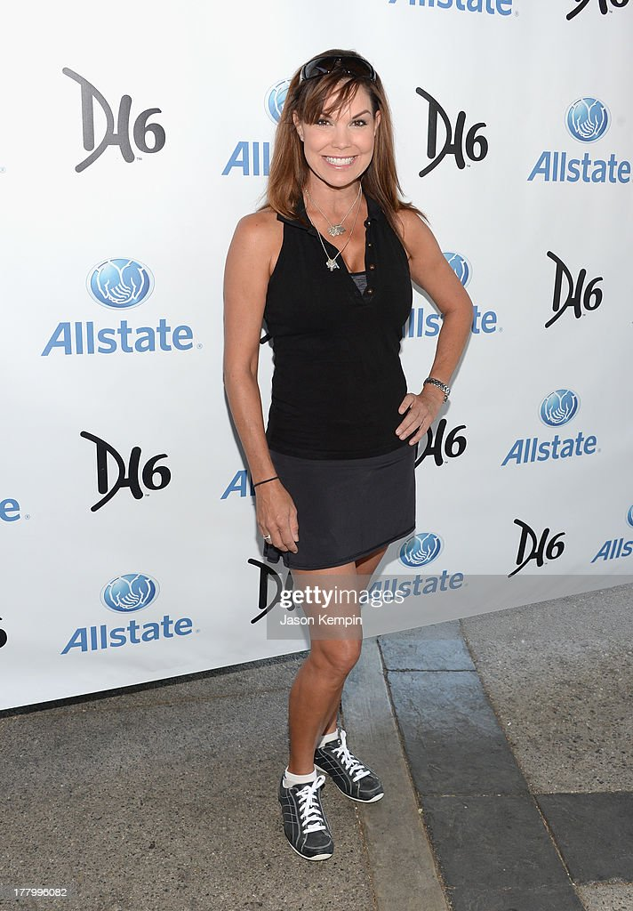 <a gi-track='captionPersonalityLinkClicked' href=/galleries/search?phrase=Paula+Trickey&family=editorial&specificpeople=569252 ng-click='$event.stopPropagation()'>Paula Trickey</a> attends the 2nd Annual Dennis Haysbert Humanitarian Foundation Celebrity Golf Classic at Lakeside Golf Club on August 26, 2013 in Burbank, California.