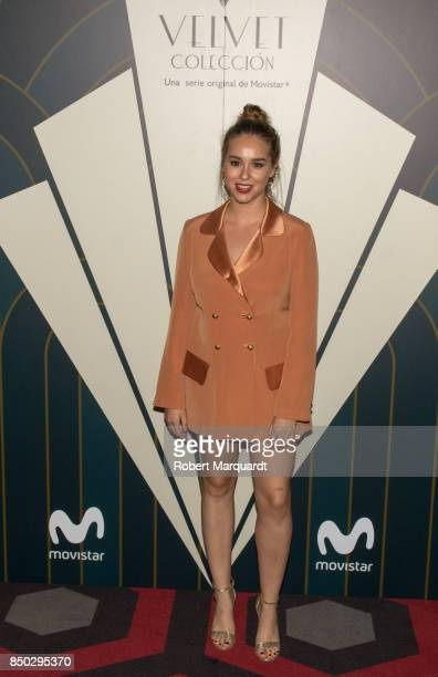 Paula Usero poses during a photocall for the premiere of 'Velvet' at the Sala Phenomena on September 20 2017 in Barcelona Spain