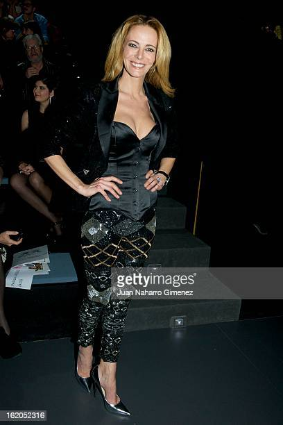 Paula Vazquez attends a fashion show during the Mercedes Benz Fashion Week Madrid Fall/Winter 2013/14 at Ifema on February 18 2013 in Madrid Spain