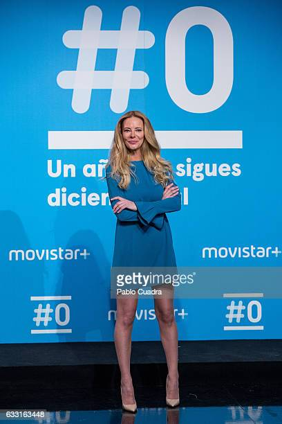 Paula Vazquez attends a photocall for the 'Movistar channel' first anniversary at 'Movistar' Studios on January 31 2017 in Madrid Spain