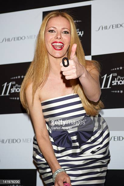Paula Vazquez attends 'Shangay' awards 2012 at Calderon Theater on March 27 2012 in Madrid Spain