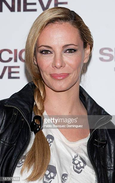 Paula Vazquez attends 'Silencio en la Nieve' Premiere at Capitol Cinema on January 19 2012 in Madrid Spain