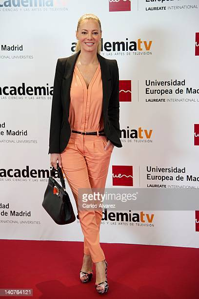 Paula Vazquez attends 'Tesoros Vivos de la Television' tribute meeting at European University on March 6 2012 in Madrid Spain