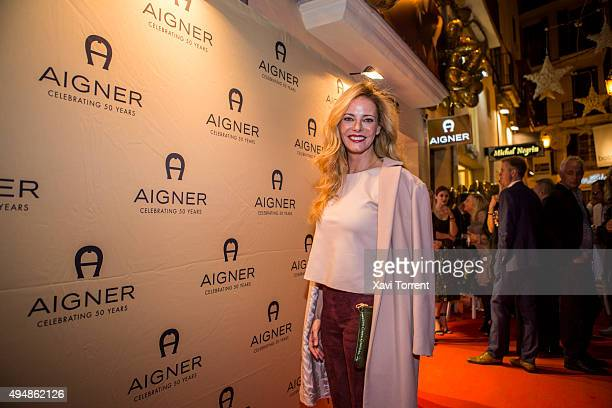 Paula Vazquez attends the AIGNER store opening party on October 29 2015 in Palma de Mallorca Spain