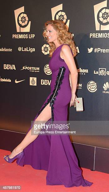 Paula Vazquez attends the LFP Awards Gala 2014 on October 27 2014 in Madrid Spain
