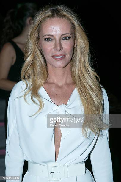 Paula Vazquez is seen attending MercedesBenz Fashion Week Madrid Spring/Summer 2016 at Ifema on September 21 2015 in Madrid Spain