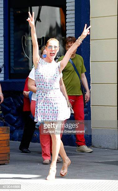 Paula Vazquez is seen on May 11 2015 in Madrid Spain