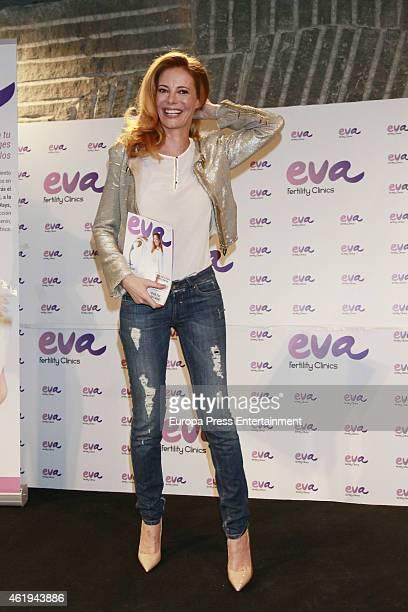 Paula Vazquez presents the charity campaign 'Preservando tu futuro proteges el de ellos' by Eva Clinics on January 21 2015 in Madrid Spain