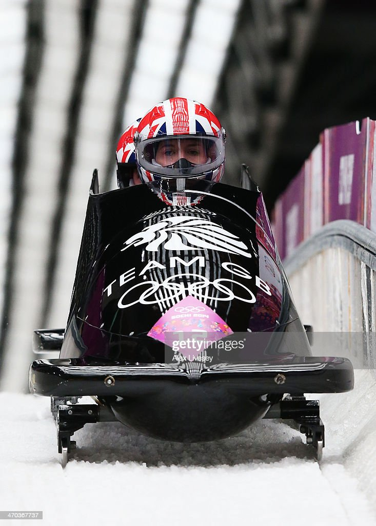 <a gi-track='captionPersonalityLinkClicked' href=/galleries/search?phrase=Paula+Walker+-+Bobsleigh&family=editorial&specificpeople=12457486 ng-click='$event.stopPropagation()'>Paula Walker</a> (front) and Rebekah Wilson of Great Britain team 1 compete during the Women's Bobsleigh on Day 12 of the Sochi 2014 Winter Olympics at Sliding Center Sanki on February 19, 2014 in Sochi, Russia.