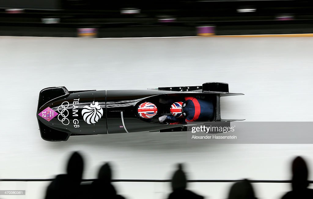 <a gi-track='captionPersonalityLinkClicked' href=/galleries/search?phrase=Paula+Walker+-+Bobsledder&family=editorial&specificpeople=12457486 ng-click='$event.stopPropagation()'>Paula Walker</a> and Rebekah Wilson of Great Britain team 1 compete during the Women's Bobsleigh on Day 12 of the Sochi 2014 Winter Olympics at Sliding Center Sanki on February 19, 2014 in Sochi, Russia.