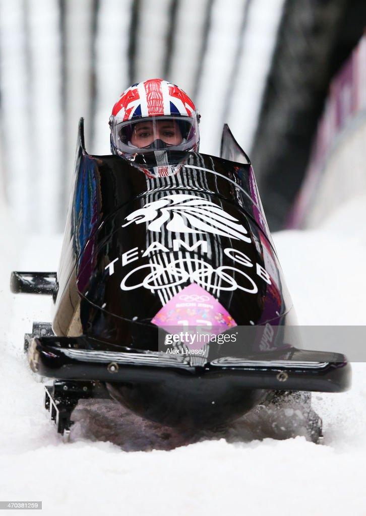 <a gi-track='captionPersonalityLinkClicked' href=/galleries/search?phrase=Paula+Walker+-+Bobsleigh&family=editorial&specificpeople=12457486 ng-click='$event.stopPropagation()'>Paula Walker</a> and Rebekah Wilson of Great Britain team 1 compete during the Women's Bobsleigh on Day 12 of the Sochi 2014 Winter Olympics at Sliding Center Sanki on February 19, 2014 in Sochi, Russia.