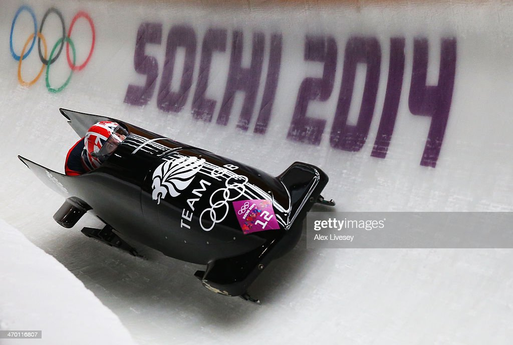 <a gi-track='captionPersonalityLinkClicked' href=/galleries/search?phrase=Paula+Walker+-+Bobsleigh&family=editorial&specificpeople=12457486 ng-click='$event.stopPropagation()'>Paula Walker</a> and Rebekah Wilson of Great Britain team 1 make a run during the Women's Bobsleigh heats on day 11 of the Sochi 2014 Winter Olympics at Sliding Center Sanki on February 18, 2014 in Sochi, Russia.
