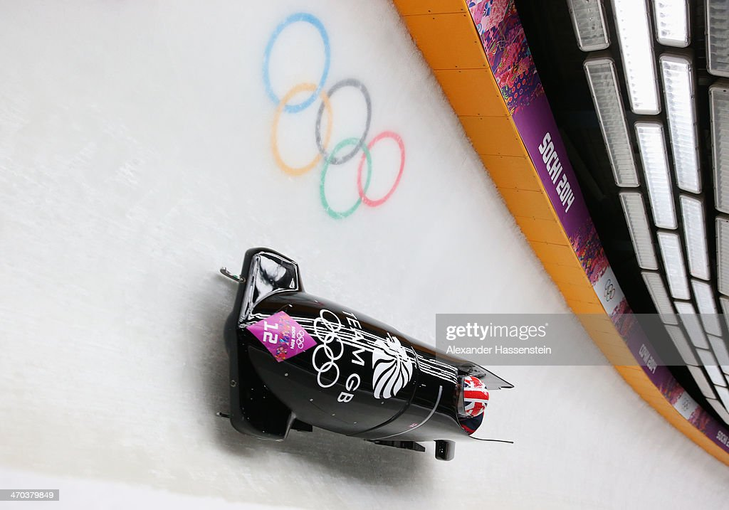 <a gi-track='captionPersonalityLinkClicked' href=/galleries/search?phrase=Paula+Walker+-+Bobsledder&family=editorial&specificpeople=12457486 ng-click='$event.stopPropagation()'>Paula Walker</a> and Rebekah Wilson of Great Britain team 1 make a run during the Women's Bobsleigh on Day 12 of the Sochi 2014 Winter Olympics at Sliding Center Sanki on February 19, 2014 in Sochi, Russia.