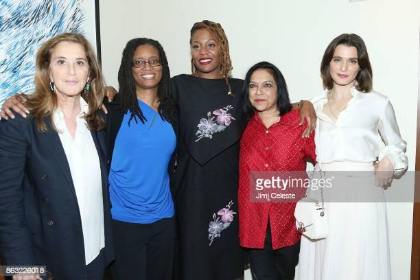 Paula Weinstein R Shanea Williams Nikyatu Jusu Mira Nair and Rachel Weisz attend Through Her Lens The Tribeca Chanel Women's Filmmaker Program...