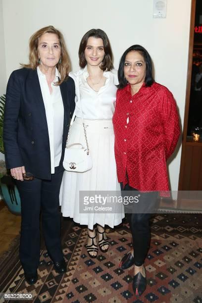 Paula Weinstein Rachel Weisz and Mira Nair attends Through Her Lens The Tribeca Chanel Women's Filmmaker Program Cocktail at Smyth Hotel on October...
