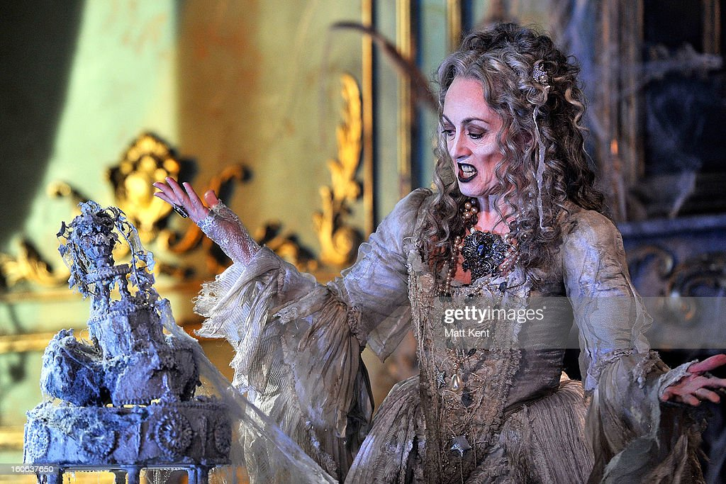 Paula Wilcox as Miss Havisham poses during a photcall for 'Great Expectations' at Vaudeville Theatre on February 4, 2013 in London, England.