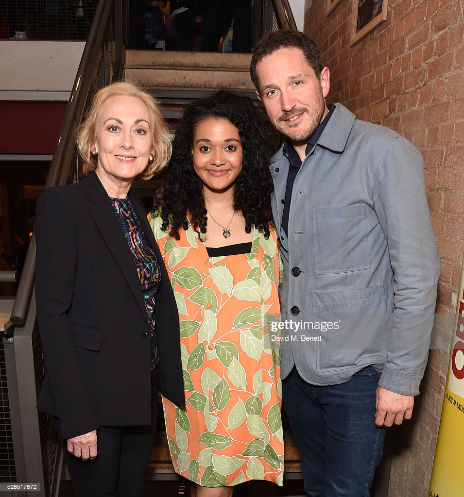 Paula Wilcox, Natasha Cottriall and Bertie Carvel attend the World Premiere press night performance of 'The Buskers Opera' at The Park Theatre on May 5, 2016 in London, England.