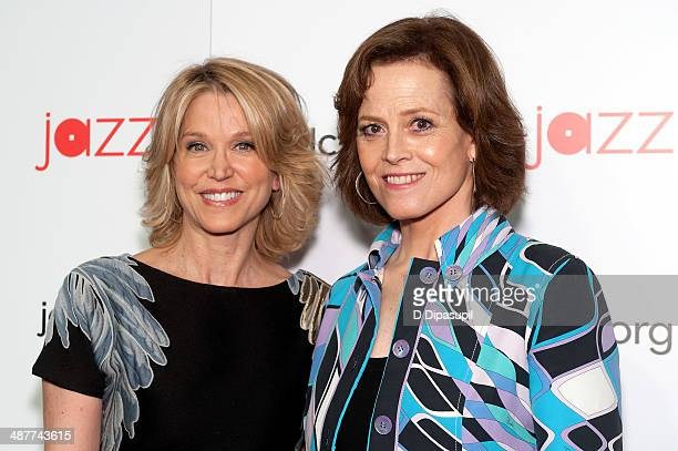 Paula Zahn and Sigourney Weaver attend the 2014 Jazz at Lincoln Center Gala hosted by Billy Crystal at Time Warner Center on May 1 2014 in New York...