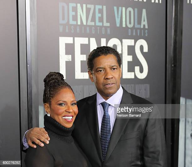 Pauletta Washington and Denzel Washington attend the New York Special Screening of the Paramount Pictures title 'FENCES' at Rose Theater Jazz at...