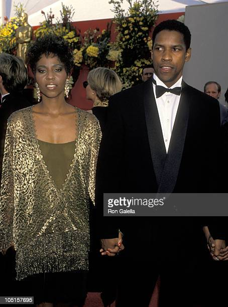 Pauletta Washington and Denzel Washington during 62nd Annual Academy Awards at Music Center in Los Angeles California United States
