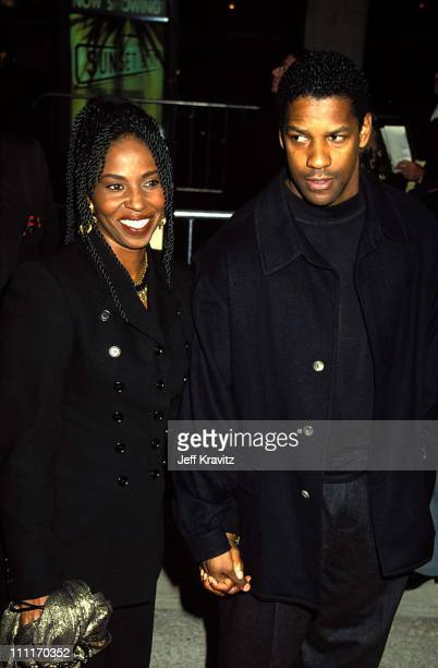 Pauletta Washington and Denzel Washington during 'Sunset Blvd' Los Angeles Premiere in Los Angeles California United States