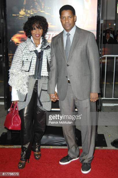 Paulette Pearson and Denzel Washington attend UNSTOPPABLE World Premiere at Regency Village Theatre on October 26 2010 in Westwood California