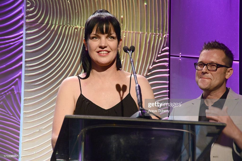 Pauley Perrette speaks at The Thirst Project 4th annual gala and performance at The Beverly Hilton Hotel on June 25, 2013 in Beverly Hills, California.
