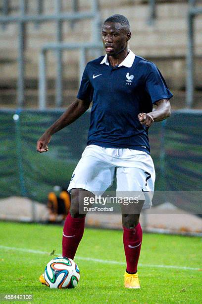 PaulGeorges Ntep of France in action during the UEFA Under21 Championship qualifying match between Sweden and France in Orjans Vall Stadium on...
