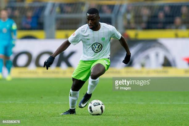 PaulGeorges Ntep of Wolfsburg controls the ball during the Bundesliga match between Borussia Dortmund and VfL Wolfsburg at Signal Iduna Park on...