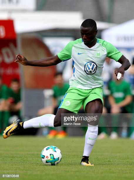 PaulGeorges Ntep of Wolfsburg runs with the ball during the preseason friendly match between Gifhorner SV and VfL Wolfsburg at GWG Stadium on July 8...