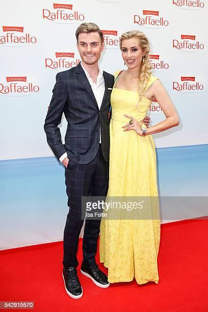 PaulHenry Duval and german moderator Verena Kerth attend the Raffaello Summer Day 2016 to celebrate the 26th anniversary of Raffaello on June 24 2016...