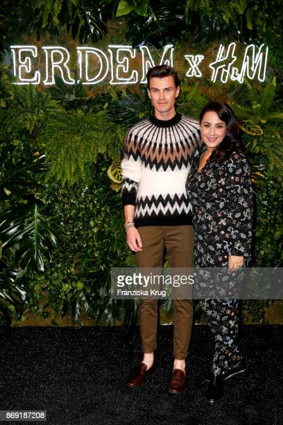 PaulHenry Duval and Nina Moghaddam attend the ERDEM x HM PreShopping Event on November 1 2017 in Berlin Germany