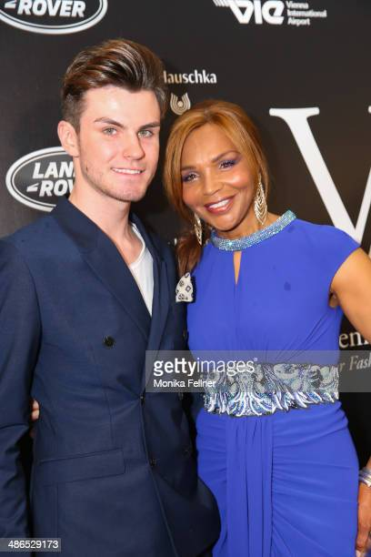 PaulHenry Duval and Valerie Campbell attend the Vienna Awards 2014 at MAK Museum fuer angewandte Kunst on April 24 2014 in Vienna Austria