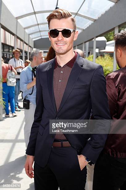 PaulHenry Duval attends the Minx by Eva Lutz show during the MercedesBenz Fashion Week Berlin Spring/Summer 2017 at Erika Hess Eisstadion on June 29...