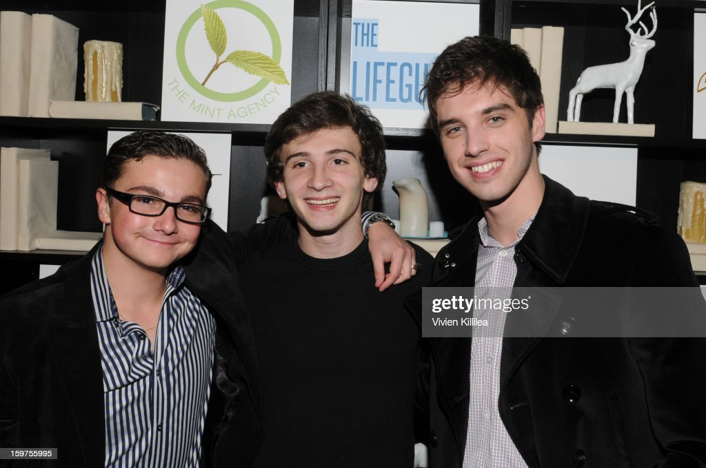 Paulie Litt, Alex Shaffer and David Lambert attend 'The Lifeguard' Premiere after party on January 19, 2013 in Park City, Utah.