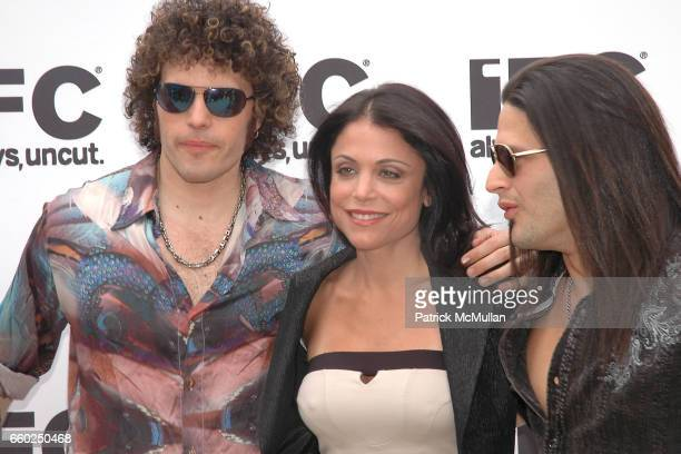 Paulie Z Bethenny Frankel and David Z attend IFC CELEBRATES SEASON 2 OF ROCK WITH AMERICA'S HOTTEST ROCKER MOM CONTEST at Madison Square Park on June...